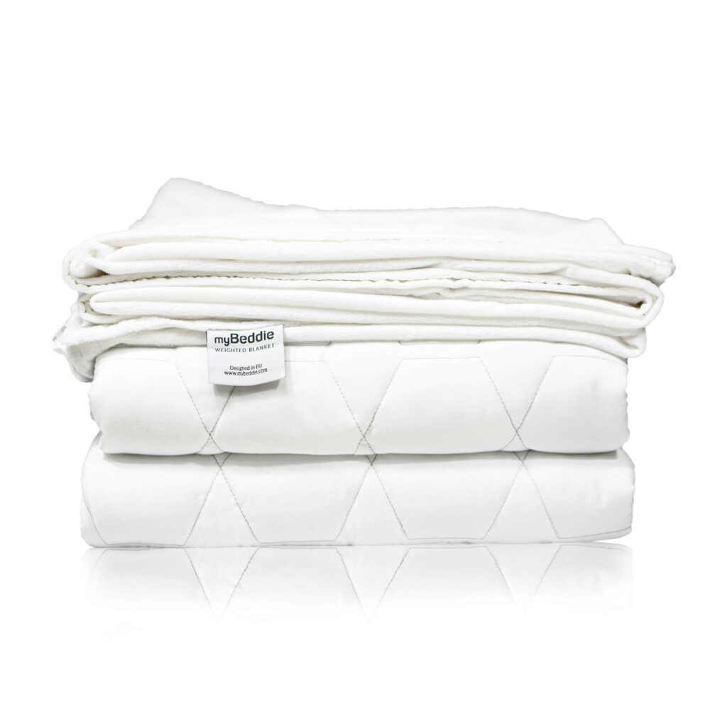 myBeddie Best Cooling Bamboo Weighted Blanket on the Amazon